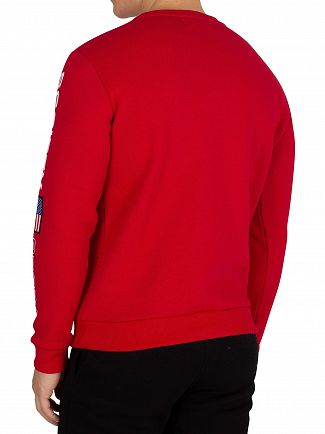 Society Sport Red No93 Flags Sweatshirt