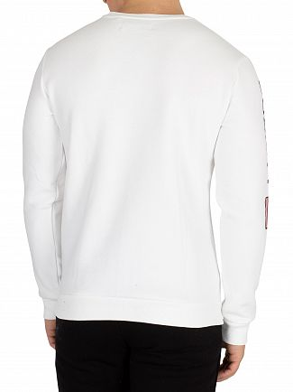 Society Sport White No93 Flags Sweatshirt