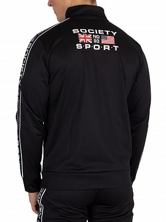 Society Sport Black US Tape Track Jacket