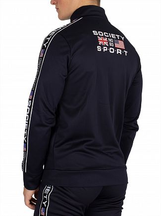 Society Sport Navy US Tape Track Jacket