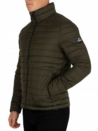 Superdry Olive Double Zip Fuji Jacket