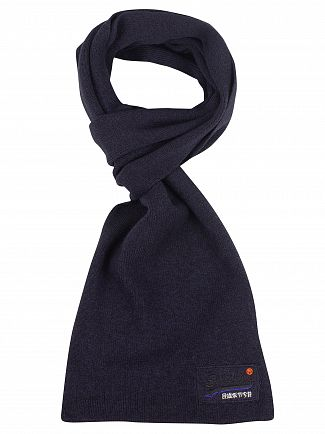 Superdry Eclipse Navy/Black Grit Orange Label Scarf