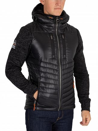 Superdry Black Granite Marl Storm Hybrid Jacket