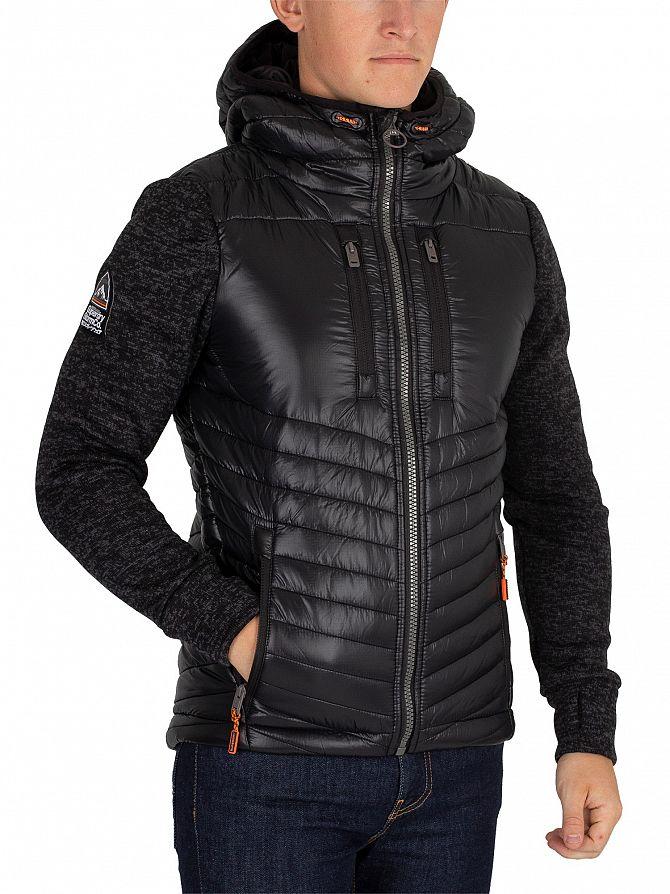 Superdry Black Granite Marl Storm Hybrid Jacket