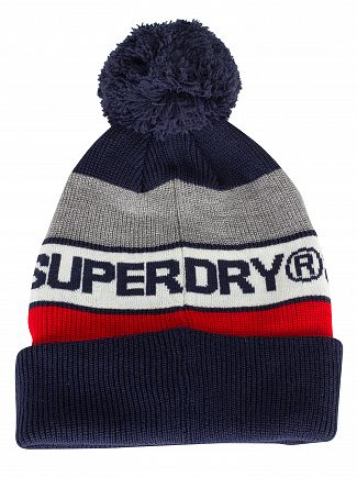 Superdry Dark Navy/Red Trophy Beanie