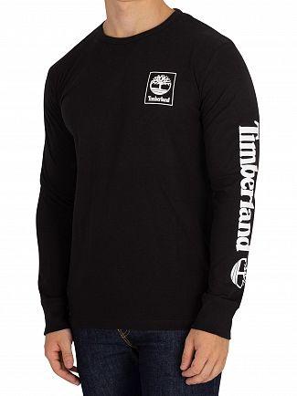 Timberland Black Graphic Longsleeved T-Shirt