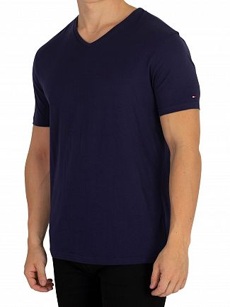 Tommy Hilfiger Peacoat 2 Pack V-Neck T-Shirts