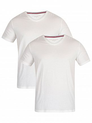 Tommy Hilfiger White 2 Pack V-Neck T-Shirts