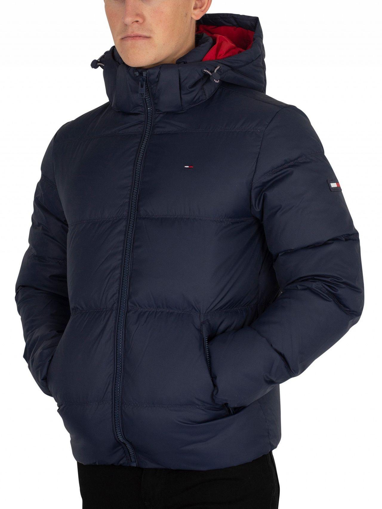 dcf87051e Tommy Jeans Black Iris Navy Essential Down Jacket | Standout