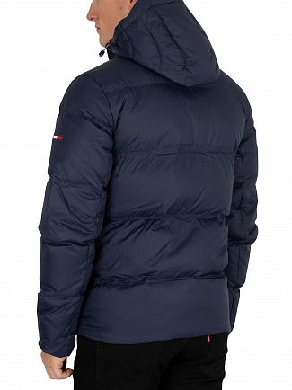 Tommy Jeans Black Iris Navy Essential Down Jacket