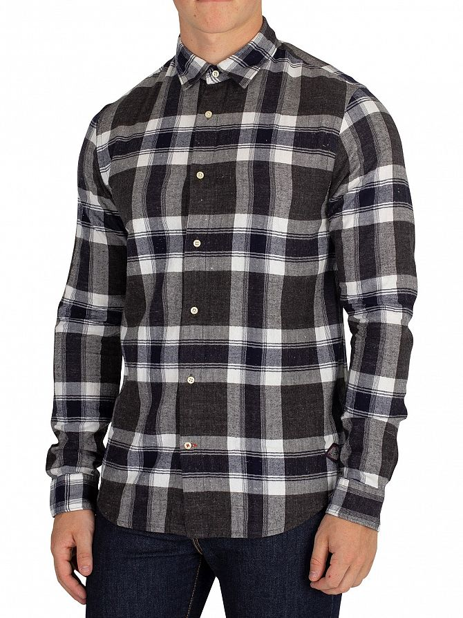 Scotch & Soda Navy Classic Check Shirt