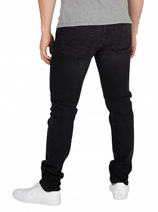 Edwin Black Mineral Wash ED-85 Slim Tapered Drop Crotch Jeans