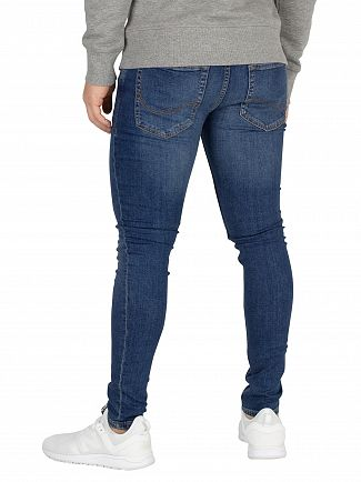 Jack & Jones Blue Denim Tom 005 Spray On Fit Jeans