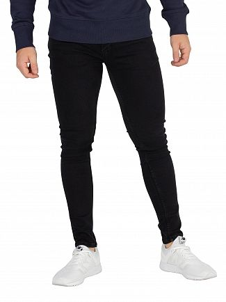 Jack & Jones Black Denim Tom 005 Spray On Fit Jeans