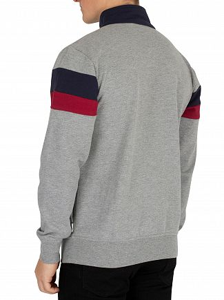 Nicce London Light Grey Marl/Deep Navy/Merlot  Jet Track Top