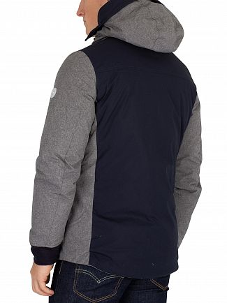 Scotch & Soda Grey Mid Length Hooded Jacket