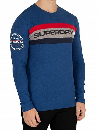Superdry Peppered Blue Grit  Trophy Longsleeved T-Shirt