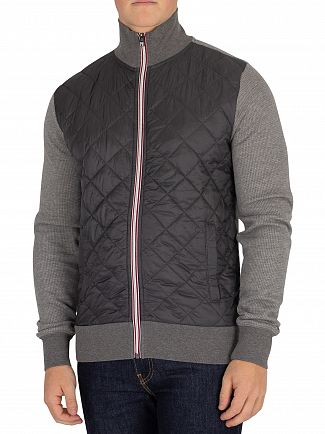 Tommy Hilfiger Silver Fog Heather Houndstooth Zip Jacket