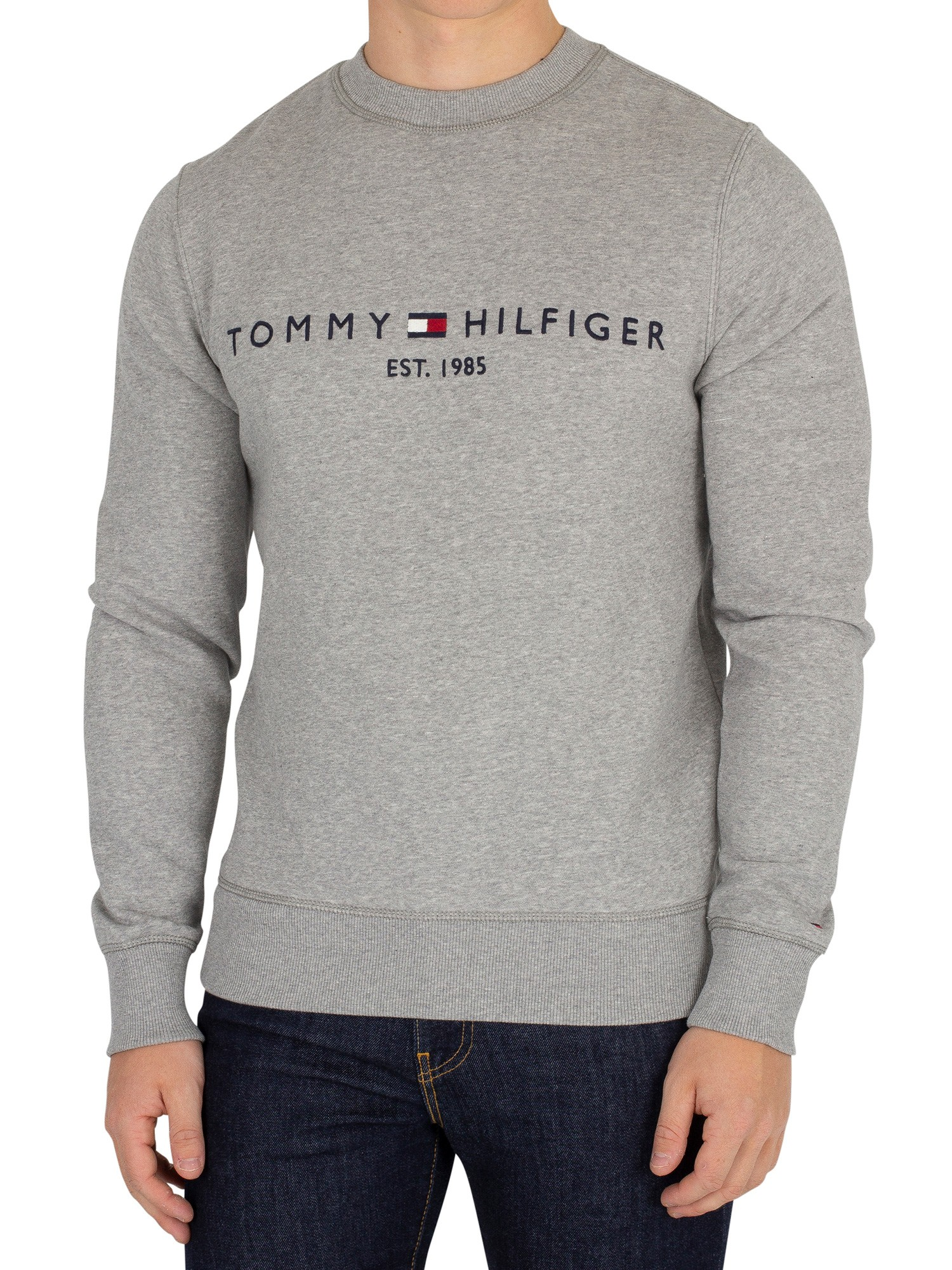 bf1dbff7 Tommy Hilfiger Cloud Heather Logo Sweatshirt | Standout