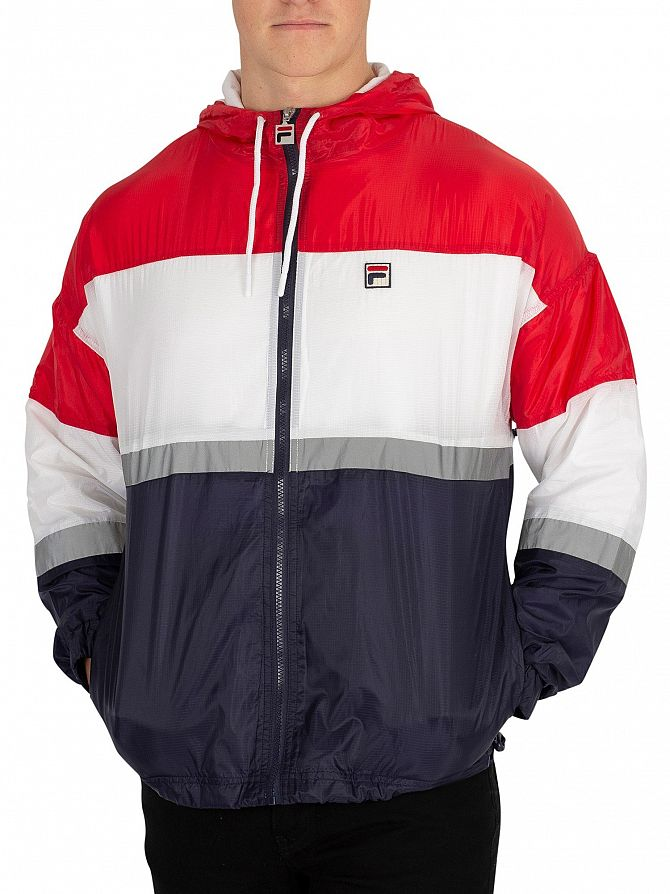Fila Vintage Red/Peacoat/White Cedric Rain Jacket