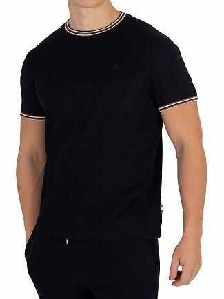 Aquascutum Navy Dorval Vicuna Tipping T-Shirt