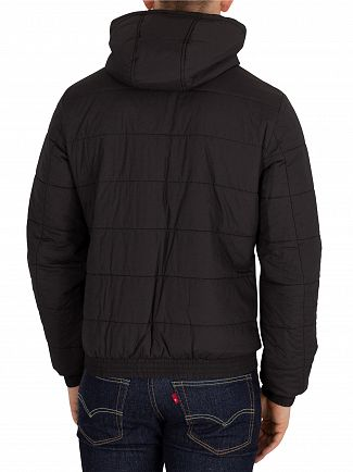 Aquascutum Black Douglas Padded Blouson Jacket