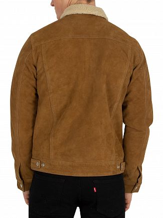 Schott Rust Ranch Sherpa Suede Jacket