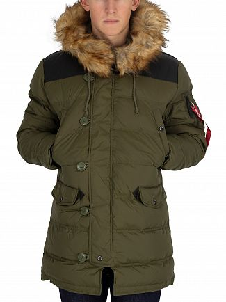 Alpha Industries Dark Green N3-B Puffer Jacket