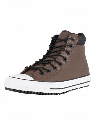 Converse Chocolate/Black/White CT All Star Hi PC Leather Boots