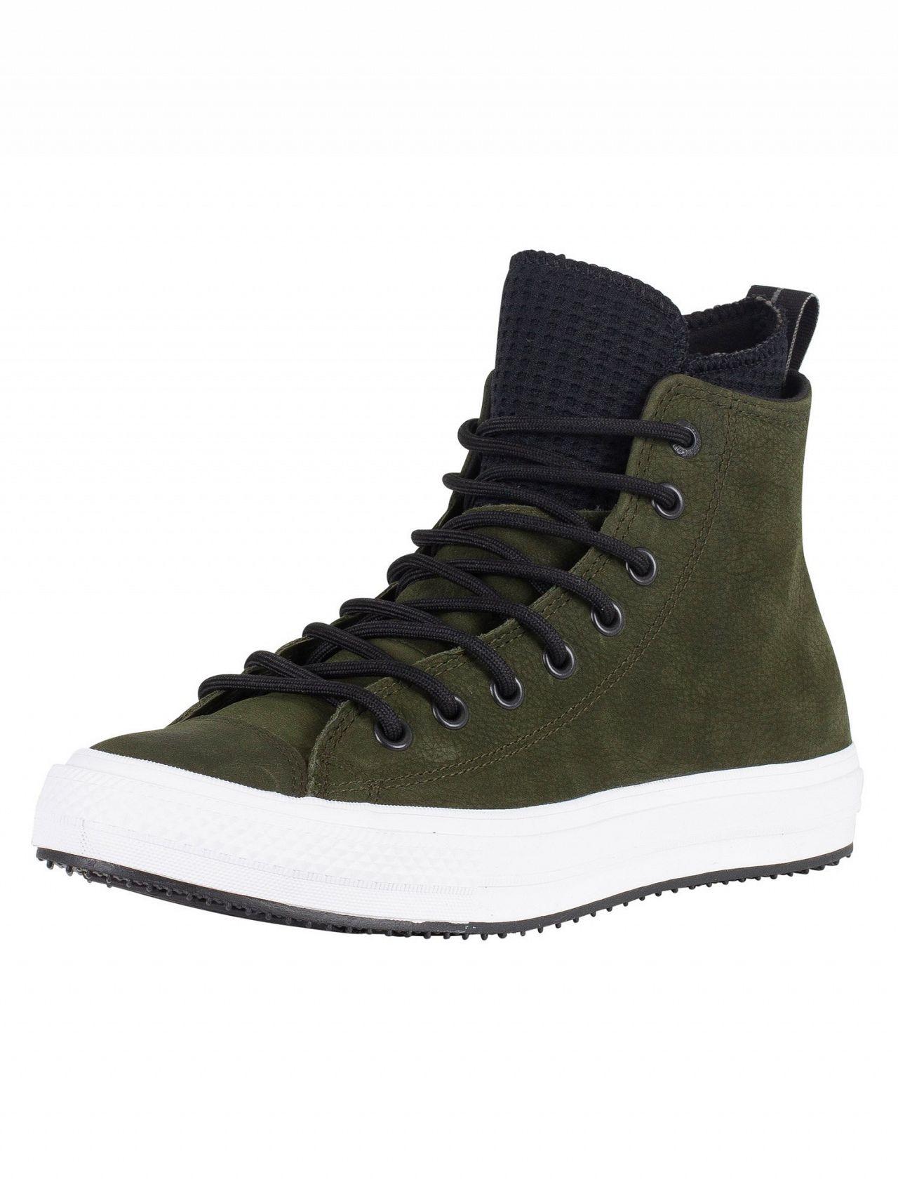 Converse Utility Green Black White CT All Star Hi WP Leather Boots ... 8f3cb420e