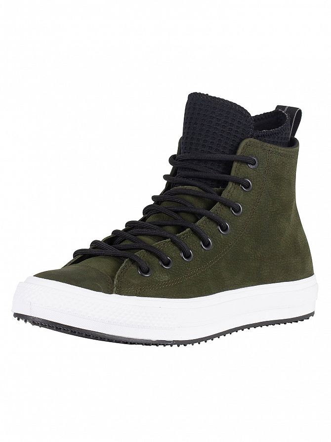 Converse Utility Green/Black/White CT All Star Hi WP Leather Boots