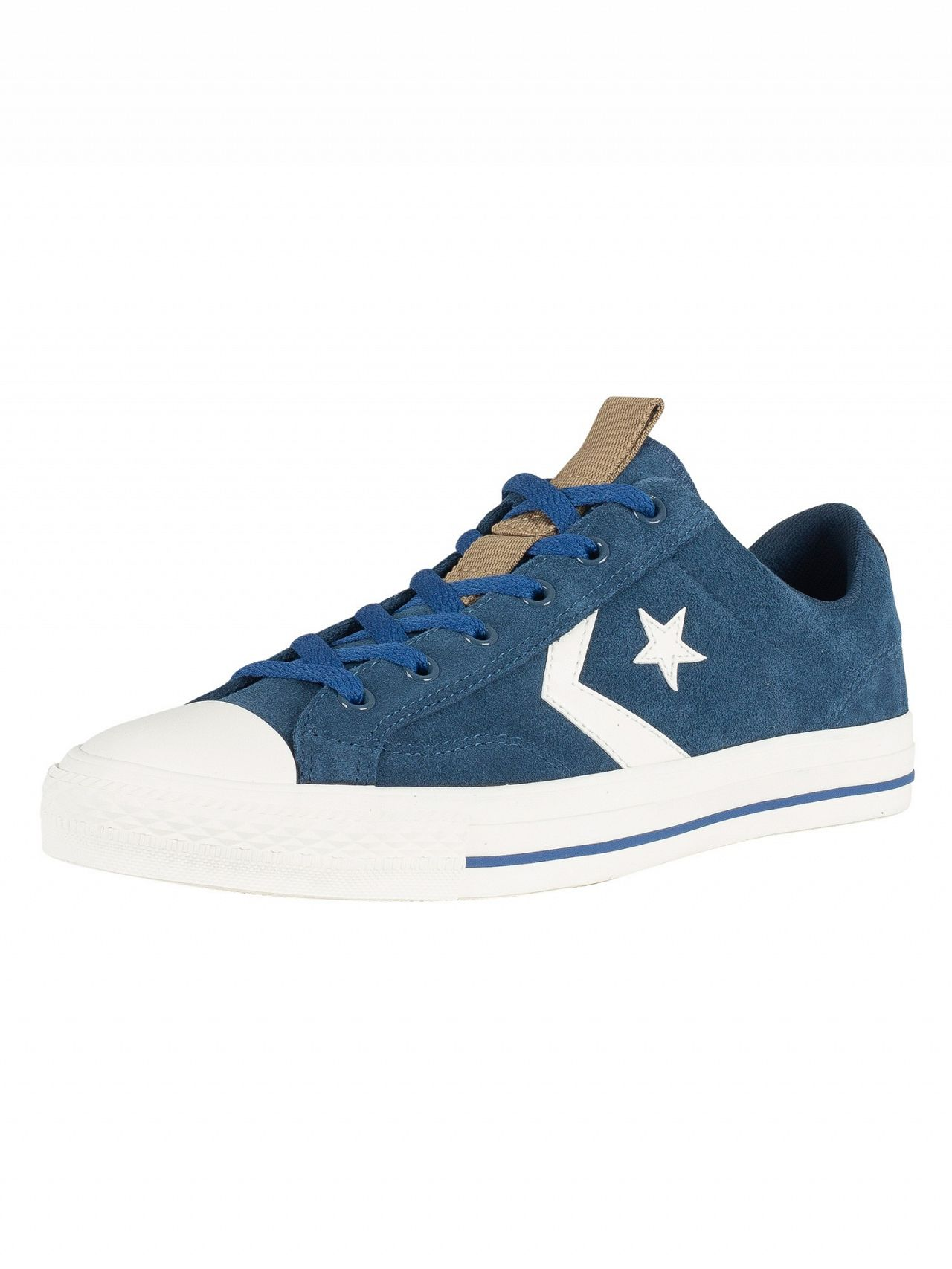 b514f30a2f24e3 Converse Navy Star Player OX Suede Trainers