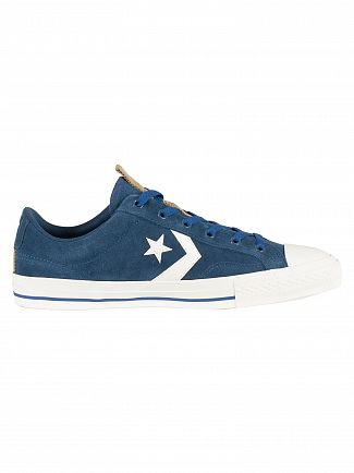 Converse Navy Star Player OX Suede Trainers