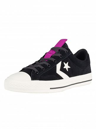 Converse Black Star Player OX Suede Trainers