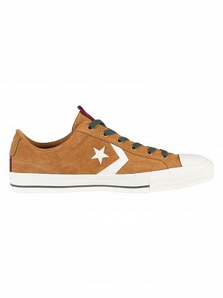 Converse Burnt Caramel Star Player OX Suede Trainers