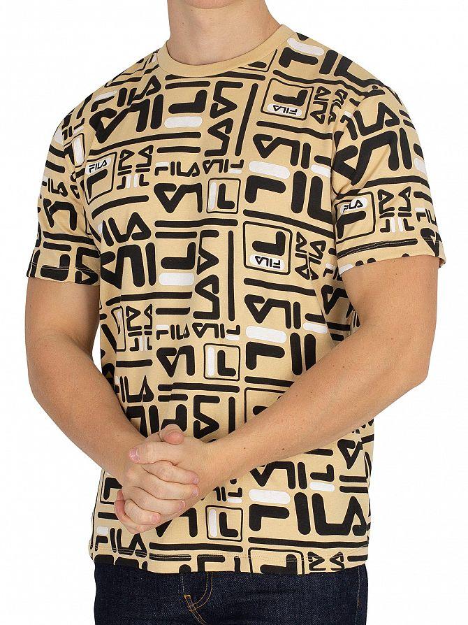 Fila Almond Buff/Black/White Charlie T-Shirt