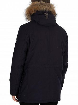 Hackett London Navy Arctic Parka Jacket
