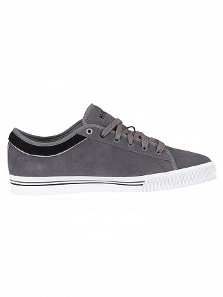 K-Swiss Charcoal/Black/White Bridgeport II Suede Trainers