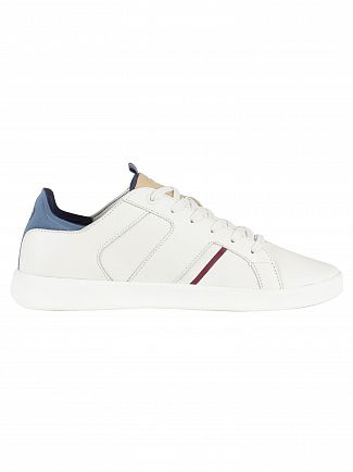 Lacoste White Novas 418 1 SPM Leather Trainers