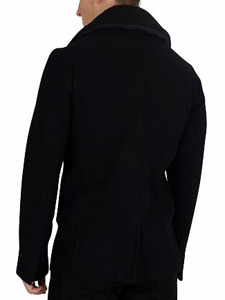 Schott Navy Cyclone Pea Coat