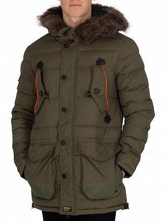 Superdry Khaki Chinook Parka Jacket