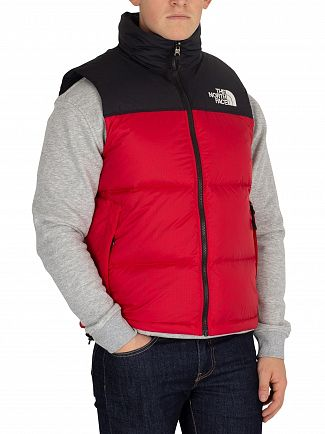 The North Face Red 1996 Retro Nuptse Gilet