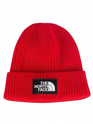 The North Face Red Logo Box Beanie