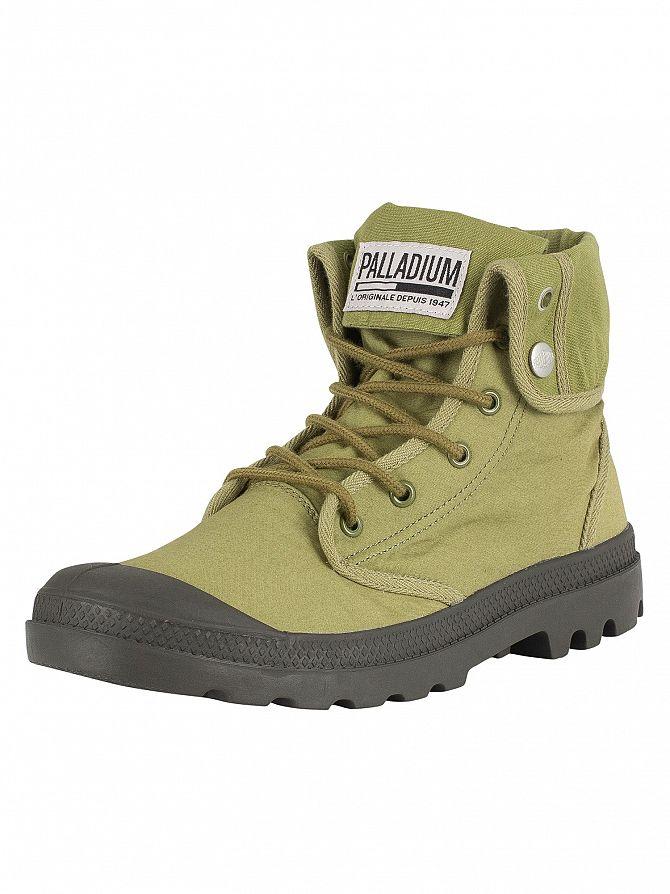 Palladium Olive/Beluga Baggy Army Training Camp Boots
