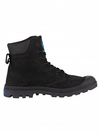Palladium Black Pampa Cuff WP LUX Leather Boots