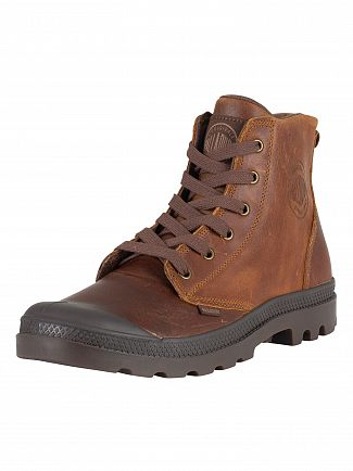 Palladium Sunrise/Chocolate Pampa Hi Leather Boots