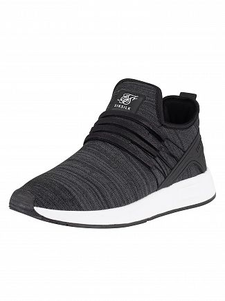 Sik Silk Black Fusion FlyKnit Runner Trainer