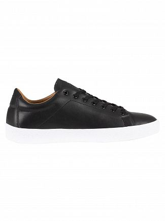 Sik Silk Black Rafael Leather Trainers