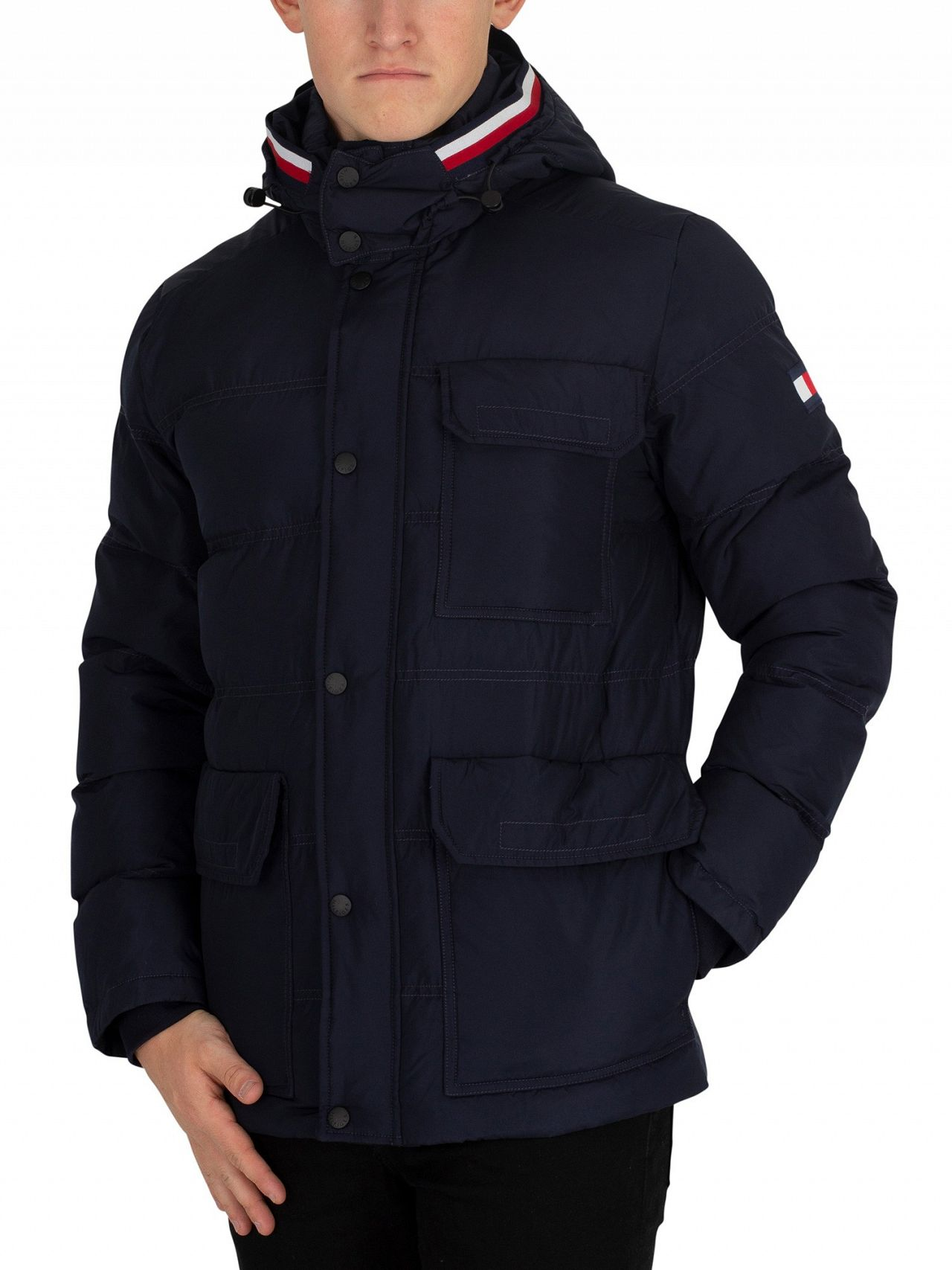 ae46fe655 Tommy Hilfiger Sky Captain Down Hooded Bomber Jacket
