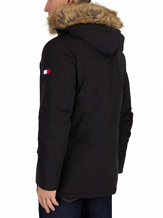 Tommy Hilfiger Jet Black Hampton Down Parka Jacket